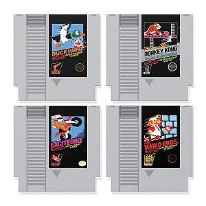 Porta Copos Cartuchos Nintendo