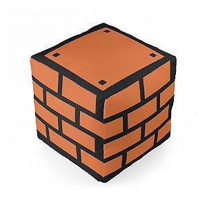 Almofada cubo tijolo Mario