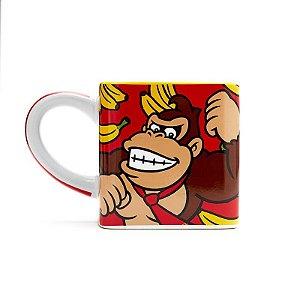 Caneca porcelana cubo Donkey Kong - 300ml