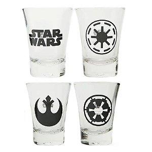 Conjunto de Copos Símbolos Star Wars