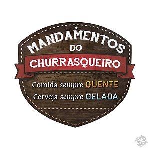 PLACA MANDAMENTOS DO CHURRASQUEIRO CERVEJA