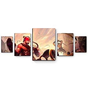 kit 5 quadros decorativos em mdf League of Legends Lee Sin