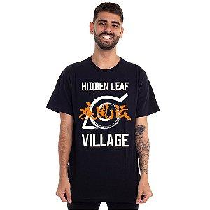 Camiseta Naruto Vila da Folha logo