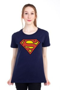 Camiseta Feminina Superman logo