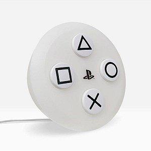 Luminária Playstation Botão PS5 - Branco