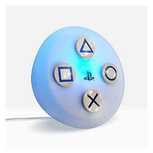 Luminária Playstation Botão PS5 - Led RGB