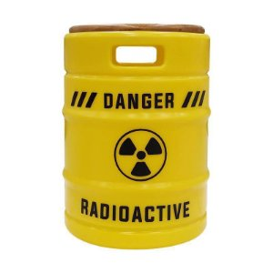 Banqueta Barril de Chopp - Radioativo Amarelo