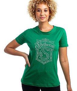 Camiseta feminina Harry Potter casa Sonserina
