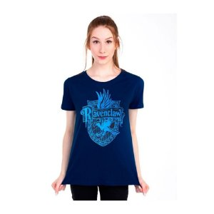 Camiseta feminina Harry Potter casa Corvinal