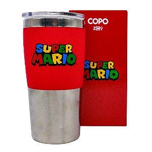 Copo Viagem Super Mario Logo