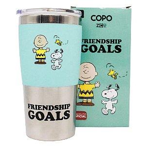 Copo Viagem Friendship Goal Snoopy