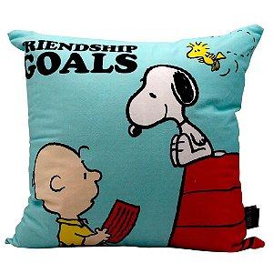Almofada Fibra Veludo Friendship Goals Snoopy