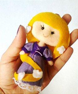 Boneca em Feltro Rapunzel - 15 cm