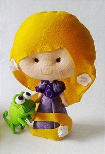 Boneca em Feltro Rapunzel - 22 cm