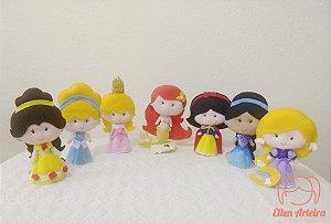 Kit com 7 Princesas em Feltro - 15 cm