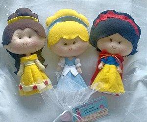 Kit com 7 Princesas em Feltro - 22 a 25 cm