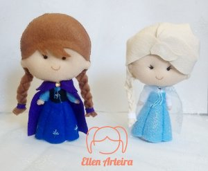 Boneca em Feltro Elsa e Anna - 22 cm