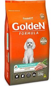Ração Golden Formula Frango e Arroz Mini Bits para Cães Adultos de Raças Pequenas - 15Kg