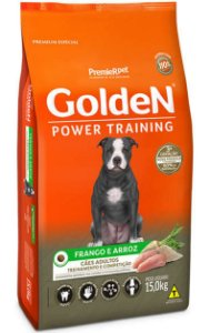 Ração Golden Power Training Cães Adultos Frango e Arroz - 15Kg