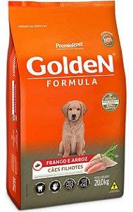 Ração Golden Formula Cães Filhotes Frango e Arroz - 20Kg