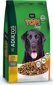 Ração Topi Dog Premium Carne e Frango para Cães Adultos