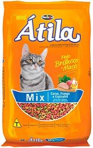 Ração Átila Mix Sabor Carne, Frango e Espinafre para Gatos