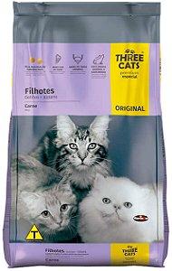 Ração Three Cats Premium Especial Sabor Carne para Gatos Filhotes - 10,1Kg