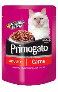 Ração Úmida Primogato Sachê Sabor Carne para Gatos Adultos - 100 g