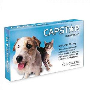 Anti Pulgas Novartis Capstar 11,4mg para Cães e Gatos Até 11 Kg