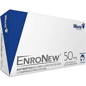 Antibiótico World Veterinária EnroNew 50mg para Cães e Gatos de até 10 Kg