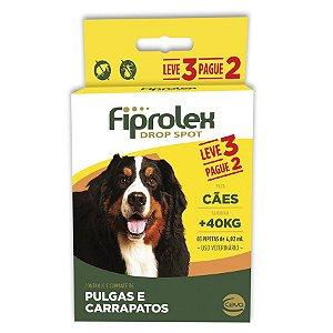 Antipulgas e Carrapatos Fiprolex Drop Spot Ceva para Cães Acima de 40kg - Leve 3 Pague 2