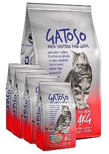 5 Pacotes de 4kg - Areia Sanitária para Gatos - Gatoso