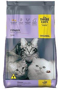 Ração Three Cats Premium Especial Sabor Carne para Gatos Filhotes - 1Kg