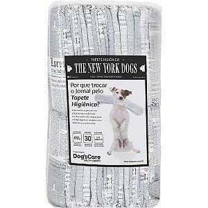 Tapete Higiênico Dog's Care The New York Dogs com 30 unidades Grande 80x60cm - Dog's Care