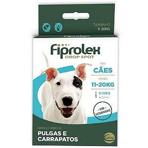 Antipulgas e Carrapatos Fiprolex Drop Spot Ceva para Cães de 11 até 20kg