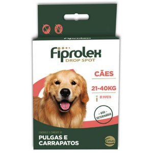 Antipulgas e Carrapatos Fiprolex Drop Spot Ceva para Cães de 21 até 40kg