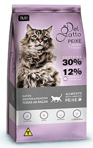 Ração Del Gatto para Adultos e Filhotes Sabor Peixe - 25kg