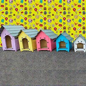Casinha para Cachorro de Madeira com Telhado Ecológico com Plástico 100% Reciclado