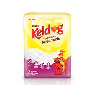 Tapete Higiênico Kelco Keldog Perfumado com 7 unidade de 80x60cm