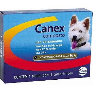 Vermifugo Canex Composto para Cães - 4 Comprimidos