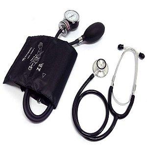 Kit Esfigmomanômetro E Estetoscópio Clinico - Incoterm