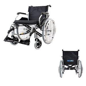 Cadeira De Rodas Adulto Em Aço Dobrável D600 T44 Dellamed