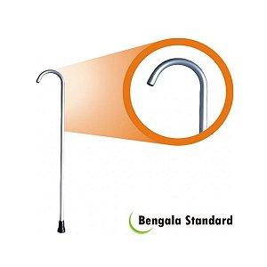 Bengala Bastão Standard Alumínio Adulto Idoso Cinza Alo