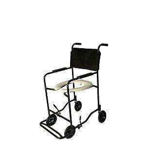 Cadeira de banho simples 01 braço reto pé fixo