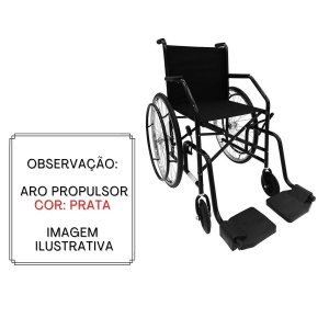 Cadeira de rodas simples 21 roda raiada