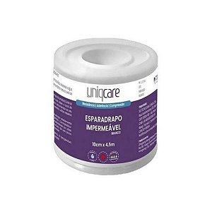 Esparadrapo Impermeável 10,0cm x 4,5m UNIQCARE - Branco