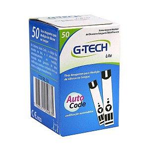 50 Tiras Reagentes G-tech Free Lite, Lite e Lite Smart Teste De Glicemia