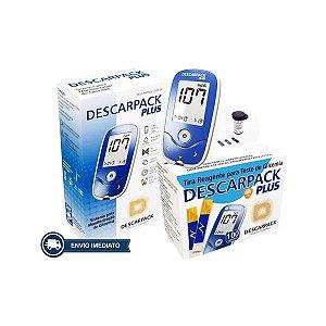 Aparelho Medidor Glicose Descarpack Plus + 100 Tiras