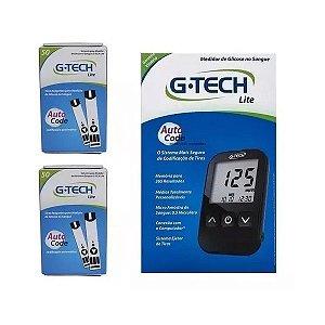 Kit Aparelho De Glicemia + 100 Tiras - G-tech Free Lite