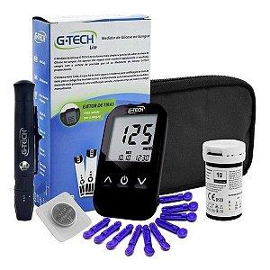 Kit Medidor G Tech Com 60 Tiras Reagente Glicemia